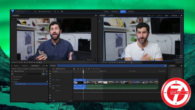 4- برنامج تعديل الفيديو HitFilm pro