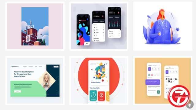 موقع Dribbble للمصممين والمحترفين