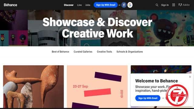 منصة Behance لمشاركة التصاميم والصور