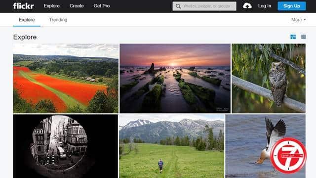 تحميل الخلفيات من موقع فليكر الشهير