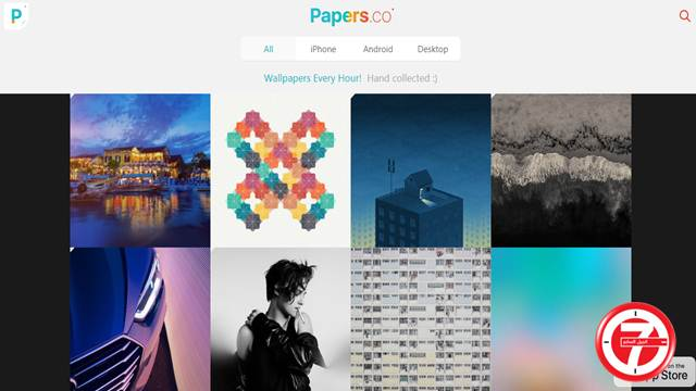 موقع وتطبيق Papers.co لتحميل الخلفيات