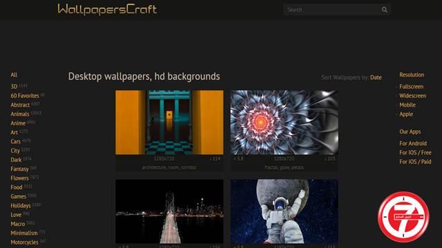 موقع WallpapersCraft لتحميل خلفيات الاندرويد والايفون