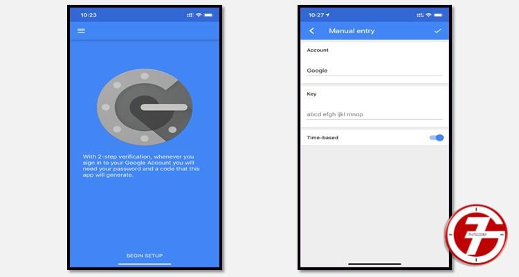 تطبيق حماية الحسابات Google Authenticator