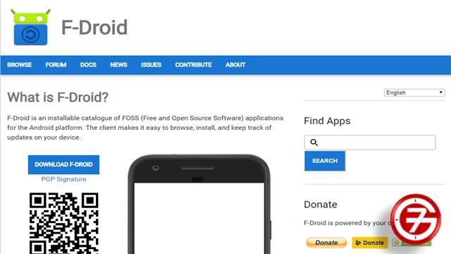 2- موقع F-Droid لتحميل التطبيقات والألعاب المجانية ومفتوحة المصدر