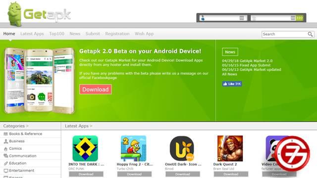 3- موقع وتطبيق GetAPK لتحميل التطبيقات والألعاب مجاناً