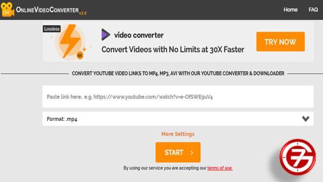 تحويل الفيديو من اليوتيوب أون لاين عن طريق Online Video Converter