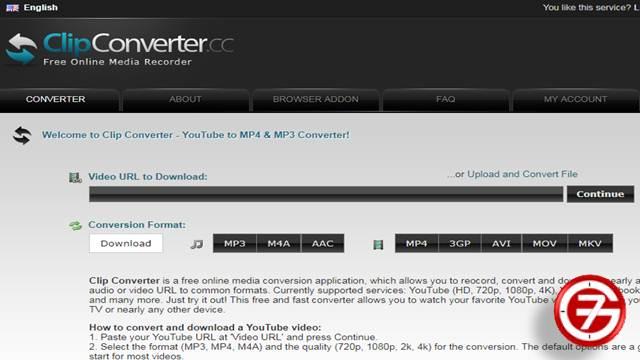 محول يوتيوب البسيط Clip Converter لتحويل وتحميل اليوتيوب اون لاين