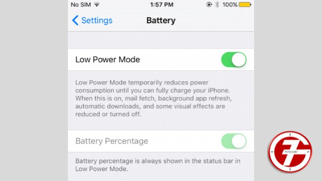 12- تمكين وضع توفير الطاقة في الايفون