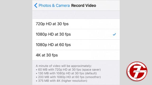 9- تعطيل خاصية 4K Video في كاميرا الايفون