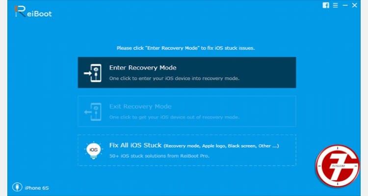 خطوة 2. قم بتوصيل جهاز الايفون الخاص بك واضغط على Fix All iOS Stuck.