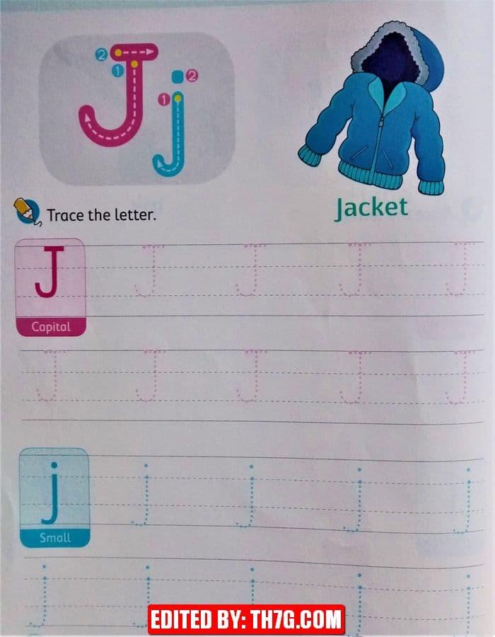 الحروف الانجليزية كبتل وسمول j