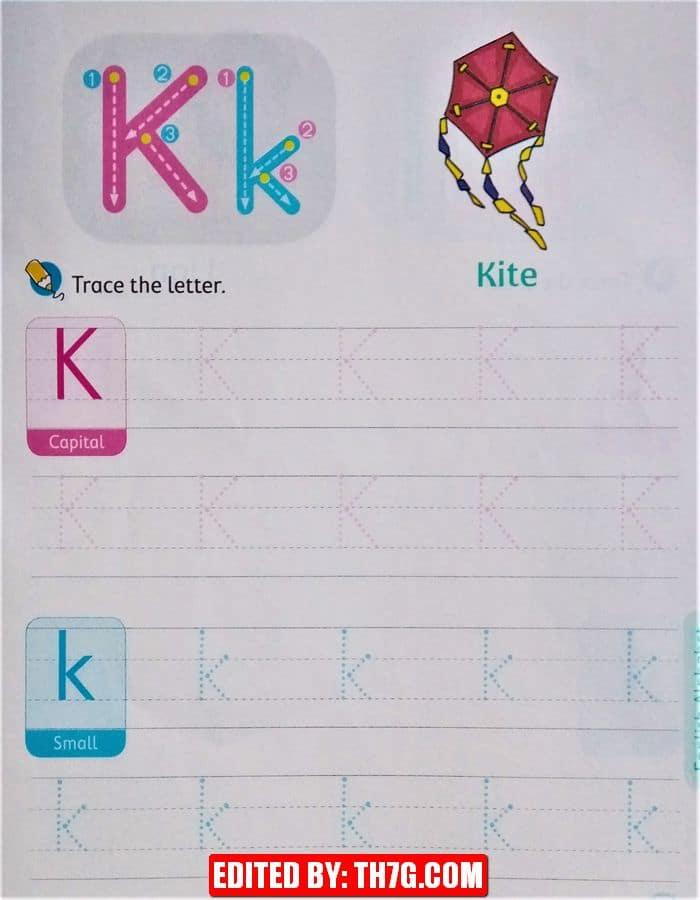 الحروف الانجليزية كبتل وسمول k
