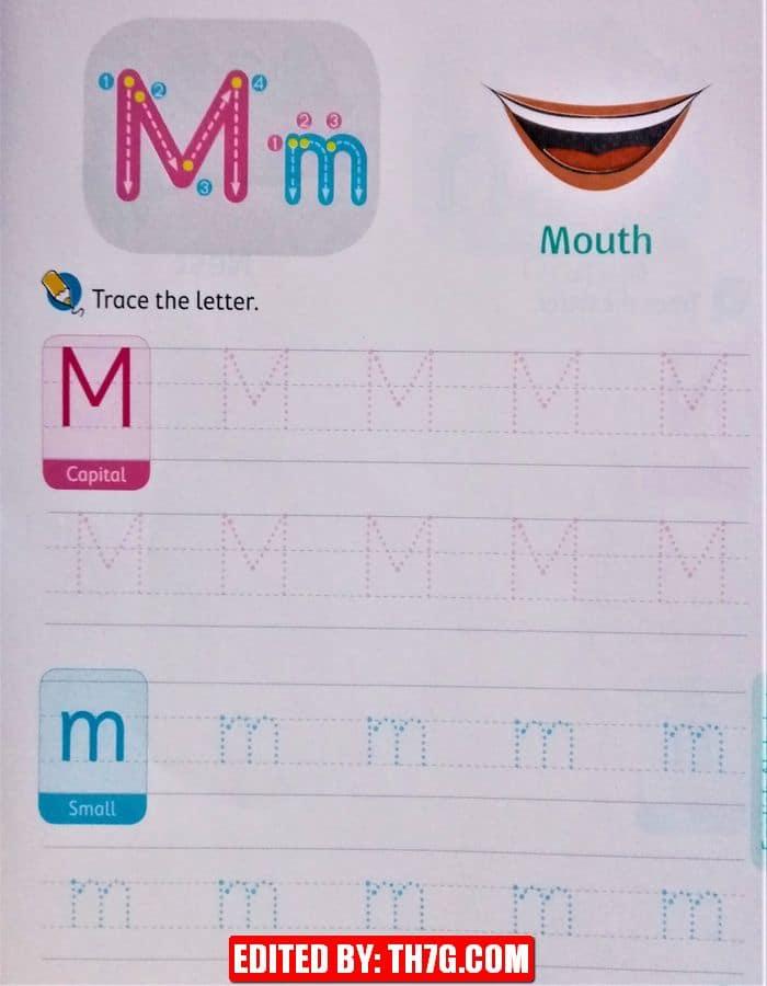 الحروف الانجليزية كبتل وسمول m