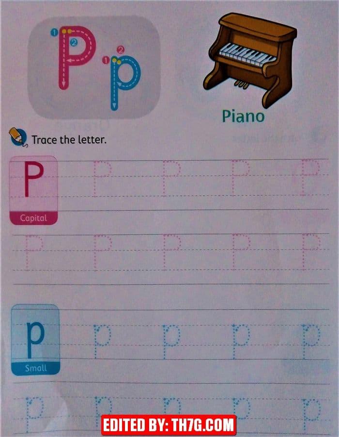 الحروف الانجليزية كبتل وسمول p