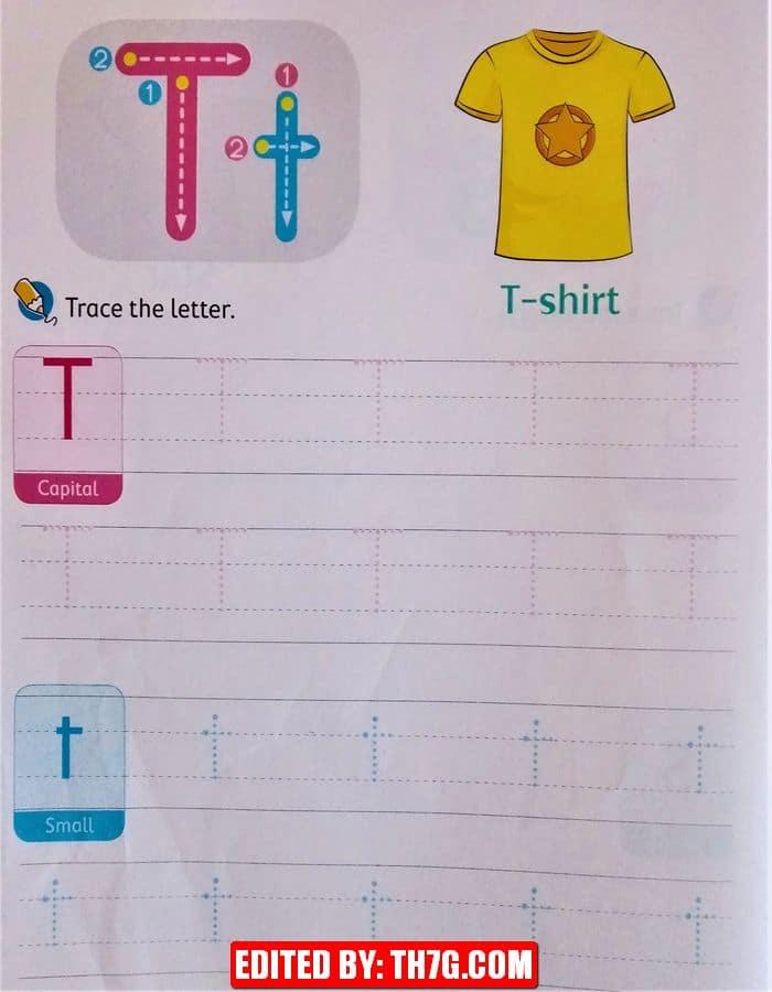 الحروف الانجليزيه t