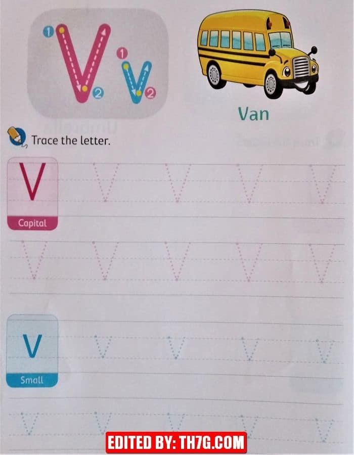 الحروف الانجليزيه v