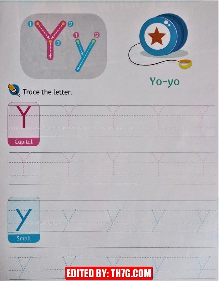 الحروف الانجليزيه y